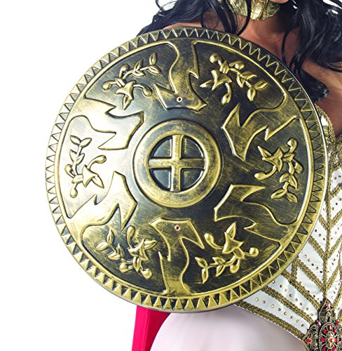 [Adult Women's Sexy Roman Greek Warrior Shield Halloween Party Costume Accessory] (Trojan Halloween Costumes)