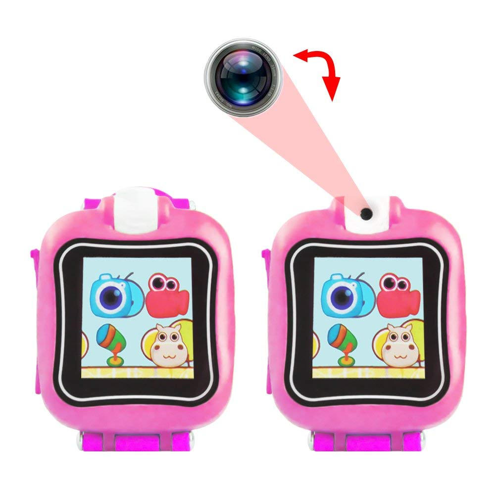 IREALIST Kids Smartwatch, Touchscreen Smart Watch with 90°Rotating Camera, Support Take Photos, Play Games, Video/Sound Recording,Timer, Alarm Clock by IREALIST (Image #4)