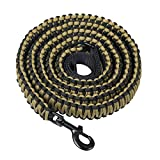 Durable Dog Walking Leash - 550 Paracord Handmade 7.5 Feet Long Dog Training Leash for Husky, Basset Hound, Working Dog, Sleut (Black & Brown)