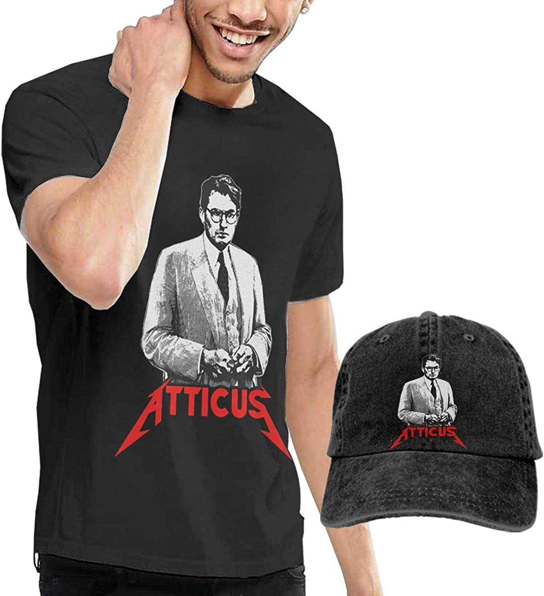 Six23S Atticus para Matar a un ruiseñor Camiseta Negra para ...