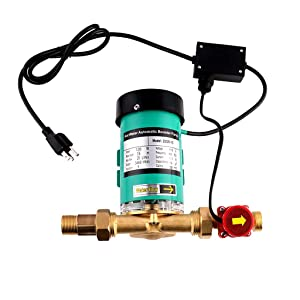 SHYLIYU Pressure Pumps 1 inch Outlet 120W Water Pressure Booster Pump Automatic Shower Booster Pump with Water Flow Switch for Home/Shower