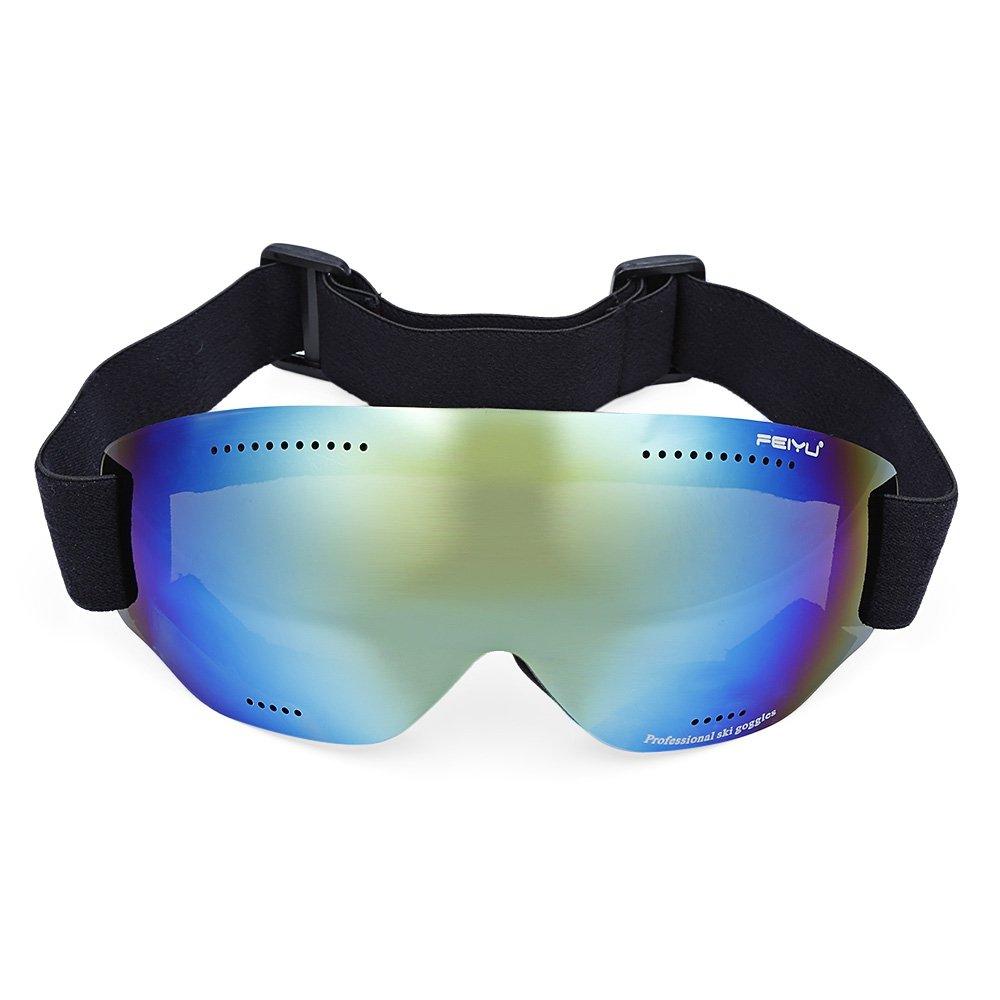 SHUFAGN,Universelle sphärische Anti-Fog-Linsen für Männer und Frauen Skibrille Klettern Gläser(Color:GRÜN)