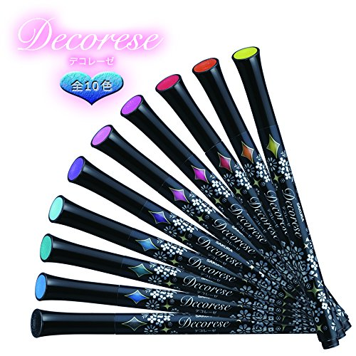 Sakura Ballpoint Pen for Decoration, Decorese Glitter 5 Color Set A, Sweet Color (DB206G5A) Photo #6