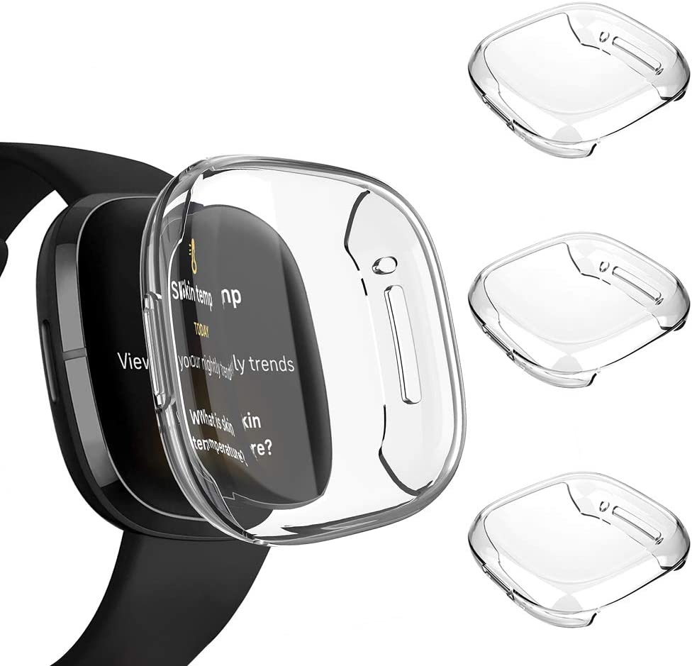 Funda compatible con Fitbit Sense / Versa 3 Transparente