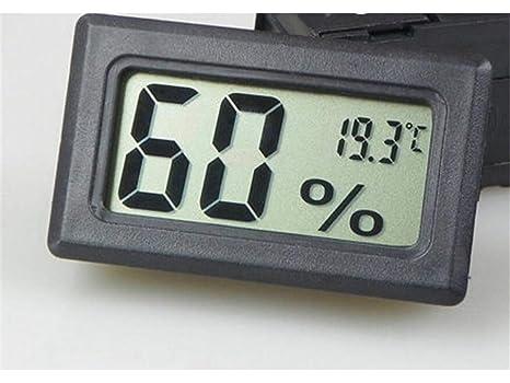 Yhcean Artículos de Uso doméstico Mini incrustado termómetro Digital Higrómetro medidor de Humedad Interior (Negro