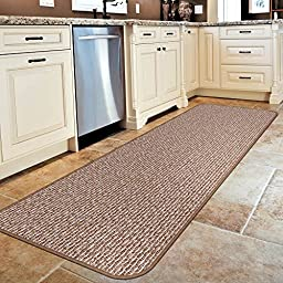 Skid-resistant Carpet Runner - Praline Brown - 4 Ft. X 27 In. - Many Other Sizes to Choose From