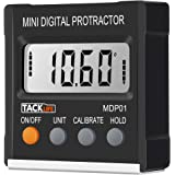 Tacklife MDP01 Classic Digital Magnetic Angle Gauge Level / Bevel Gauge/ Protractor / Angle Finder with Zinc Alloy Material, Magnetic Base, Battery Included for Miter Saw, Woodworking, DIY and etc
