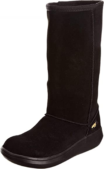 Womens Rocket Dog Sugar Daddy Black Suede Winter Boots Mid Calf Size 3 UK