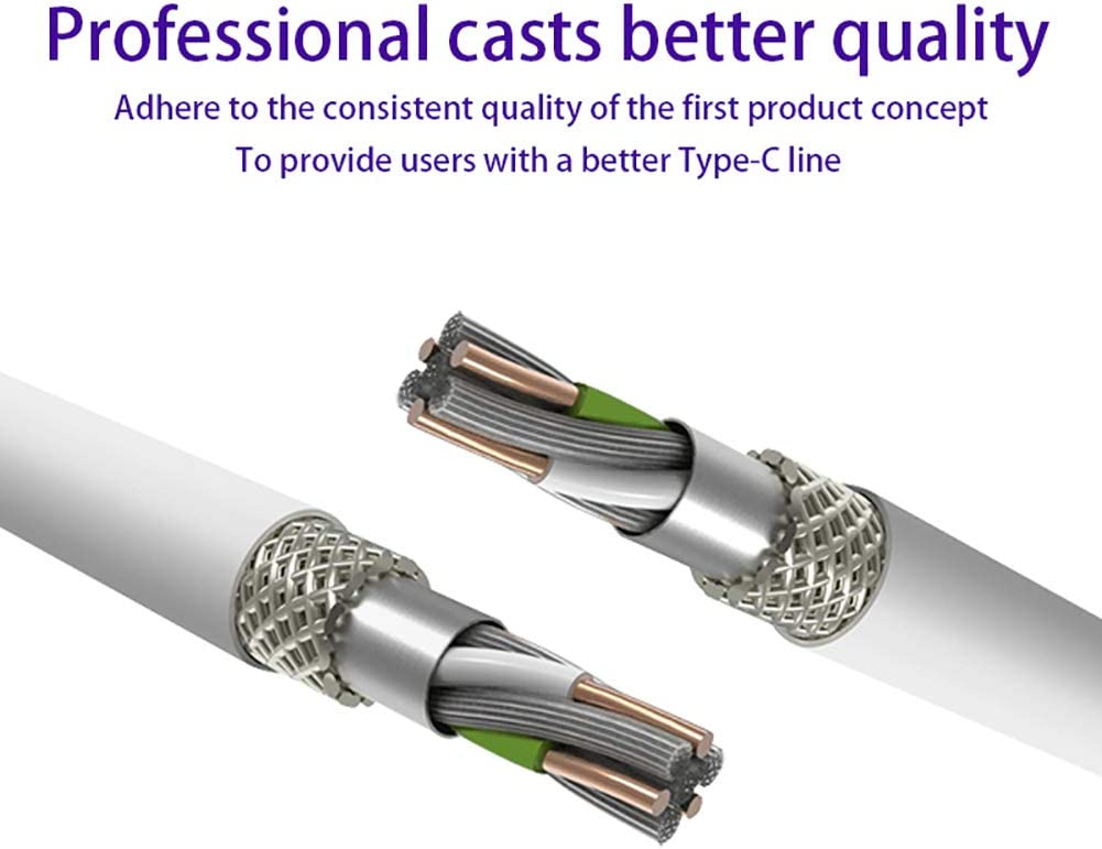 3.3Ft//6.6Ft//9.9Ft 5A Super Fast Charge Data Transmission Type-C Data Cable Suitable for Huawei P30 P20 Mate10//Samsung Galaxy S10 S9 S8 APPLL USB C Cable
