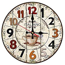 ptk12 Wall Clocks Wall Clock Wooden Clocks Quartz Watch Single face Still Life Stickers Modern Living Room Separates Home Decor 1 PCs