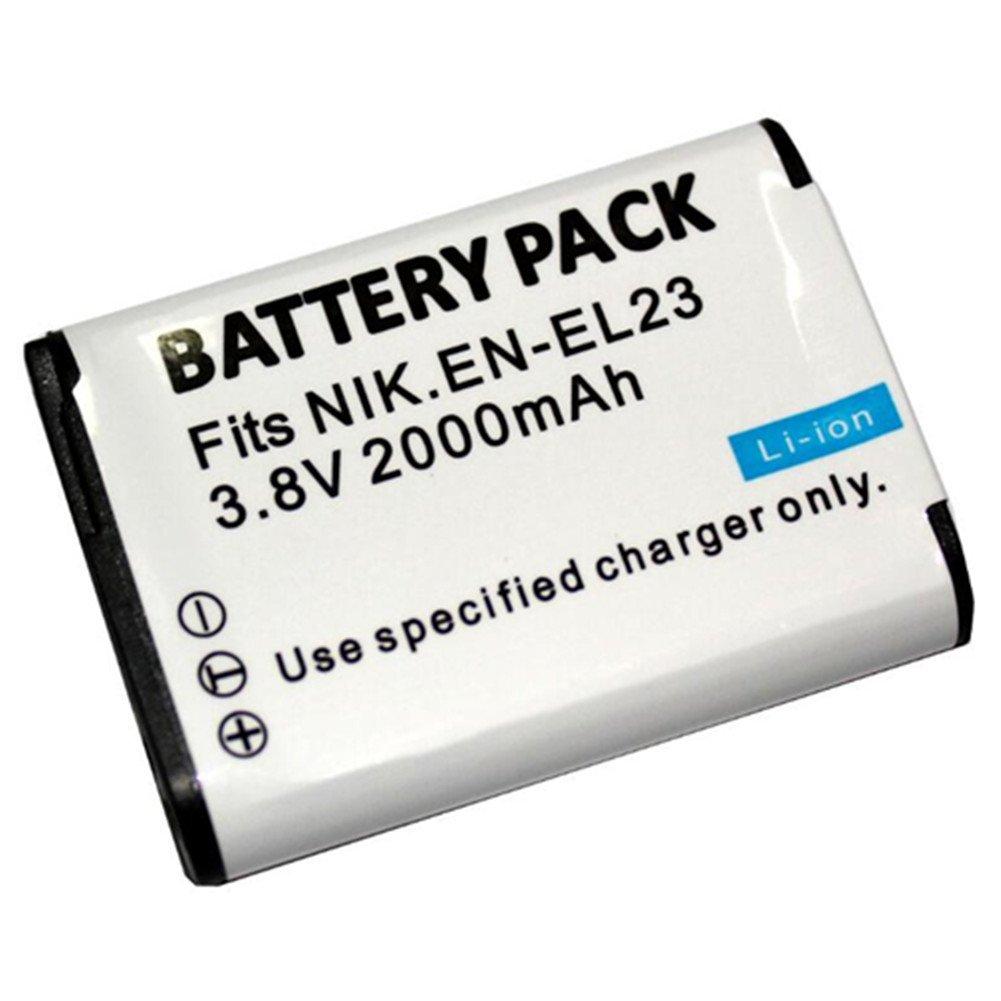 1 pz 2000 mAh ENEL23 EN-23 EN EL23 Batteria con caricabatterie LCD singolo per fotocamera Nikon COOLPIX P600 S810c P900 P610