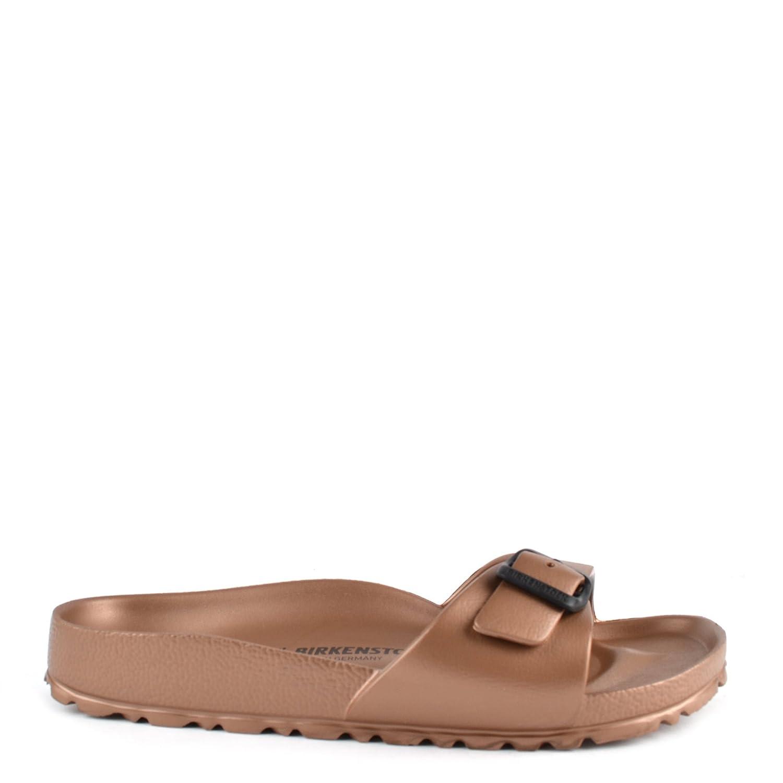 336bb084615 Birkenstock Madrid Copper Rubber Buckle Flat Sandal 41 Copper   Amazon.co.uk  Shoes   Bags