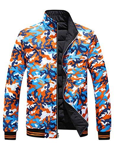 Men's Short Down Black Yeokou Quilted Puffer weight Packable Jacket Coat gwq6Wn7d