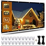 120 Inch Projection Screen 16:9 HD Portable Widescreen Foldable Anti-Crease Indoor Outdoor Indoor Projector Movies Screen for