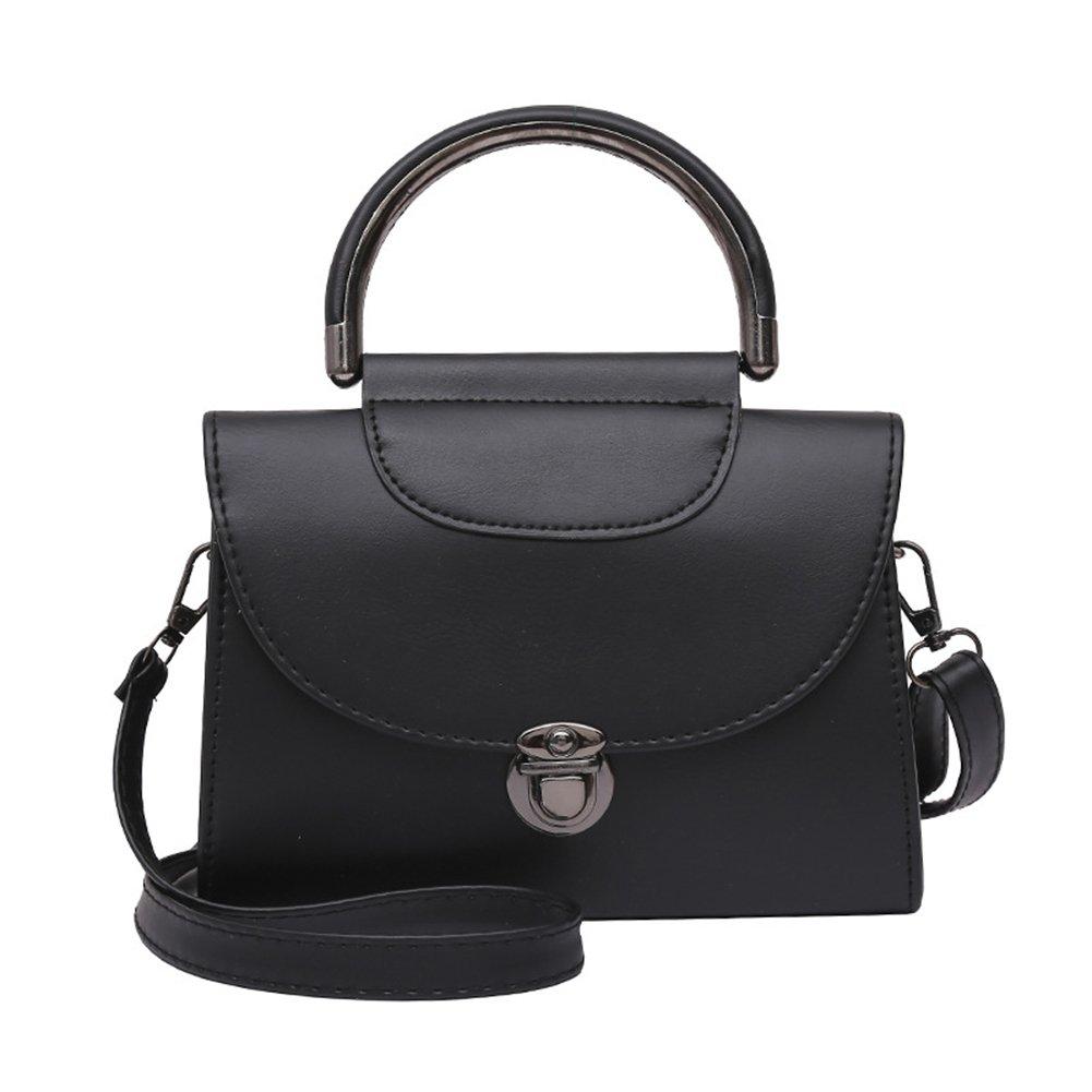 Etbotu Woman Retro Metal Buckle Shoulder Bag,Creative All-match Leisure Handbag Portable Satchel Messenger Bag