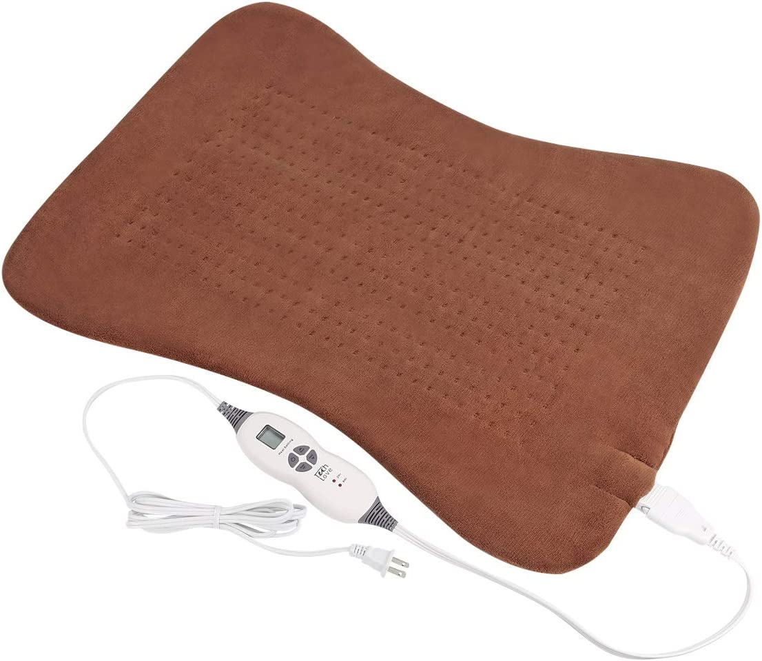 Large Heating Pad for Back Pain with Auto Shut-Off, Electric Moist Heat Pad for Neck Shoulder Hip and Leg, Full Body Relief XXL Size 20'' x 28'' Coffee