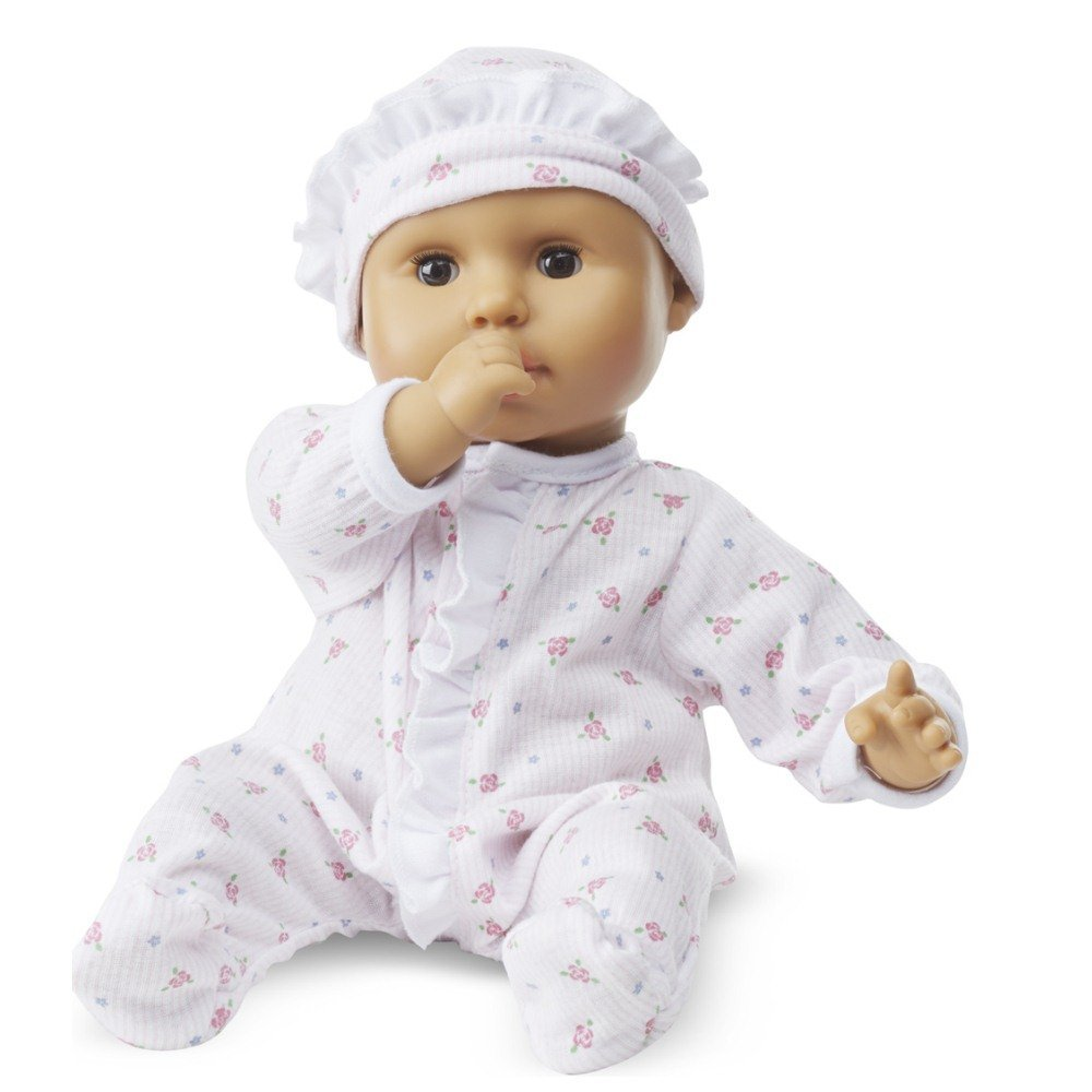Melissa & Doug Mine to Love Mariana 12-Inch Poseable Baby Doll With Romper and Hat 4912