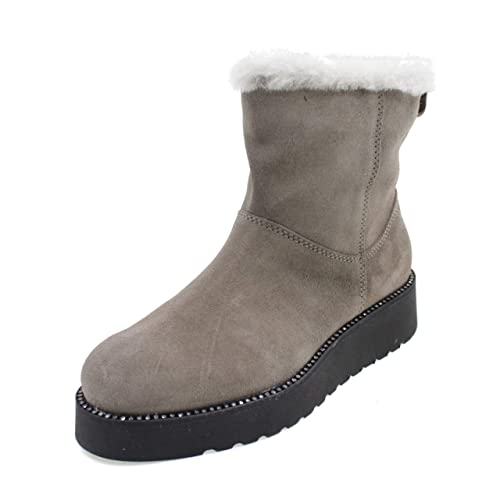 ANDREA MORELLI Botas con Cremallera Laterale Made IN Italy Chica M4A550151T Taupe: Amazon.es: Zapatos y complementos