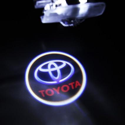 lightupro 2 pcs LED proyector láser para Toyota logo paso puerta ...