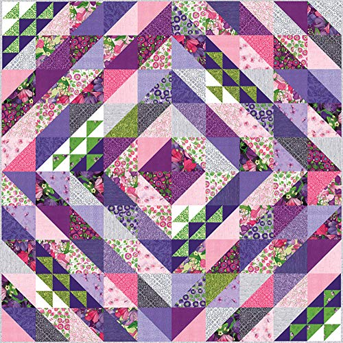 - Robin Pickens Sweet Pea & Lily Faceted Quilt Kit Moda Fabrics KIT48640