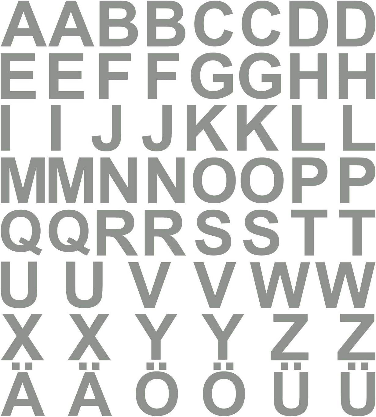 Kleb Drauf 58 Buchstaben Höhe Je 5 Cm Grau Matt Autoaufkleber Autosticker Decal Aufkleber Sticker Auto Car Motorrad Fahrrad Roller Bike Deko Tuning Stickerbomb Styling Wrapping Auto