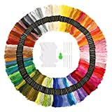 Arts & Crafts : Embroidery Floss Thread 150 Skeins Rainbow Colors SOLEDI Craft Floss for Friendship Bracelets with Embroidery Tools