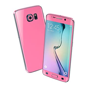 new york 0308a 106e5 For SAMSUNG GALAXY S6 EDGE+ PLUS GLOSSY Full Body Wrap Sticker Cover Decal  Protector Skin (3M PINK)