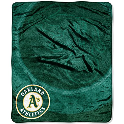 MLB Oakland Athletics Raschel Plush Throw Blanket, Retro - Athletics Oakland Soft Blanket