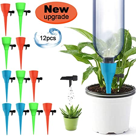 12 x New Plant Self Watering Spikes Adjustable Automatic Drip Irrigation System