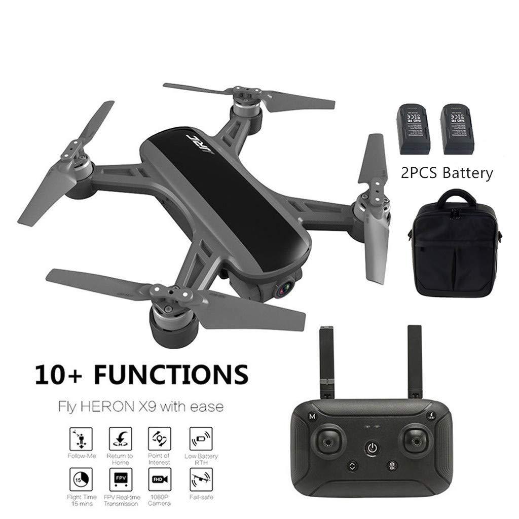 promociones de equipo negro TianranRT  Uav Drone,Jj-Rc Drone,Jj-Rc Drone,Jj-Rc Heron X9 Gps 5G Wifi 1080P Hd Cámara Fpv Aviones Quadcopter Drone + Bag Fresh nuovo Creative,negro  el estilo clásico