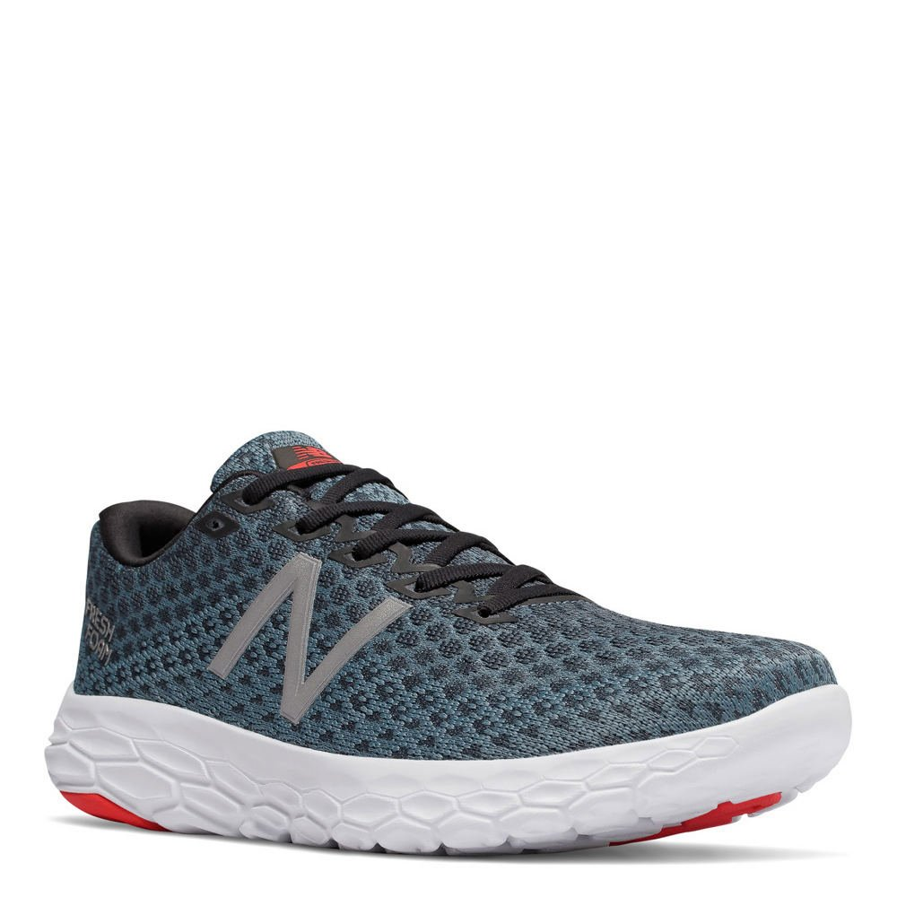 33bba086e936b Amazon.com | New Balance Men's Fresh Foam Beacon Running Shoe, Size: 9 Width:  D Color: Petrol/Flame Dark Grey | Road Running