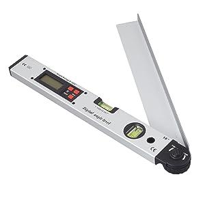 Digital Angle Finder Neoteck 400mm/16 inch 0~225¡Backlit LCD Digital Inclinometer Protractor Spirit Level Angle Finder Gauge Meter with Portable Bag for Industrial Applications Renovation Works