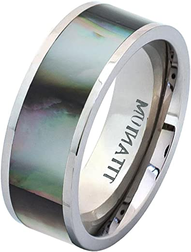 Tungsten Jeweler 7mm Titanium White IP with Brushed Center Polished Step Edge Wedding Band Ring for Men Or Ladies