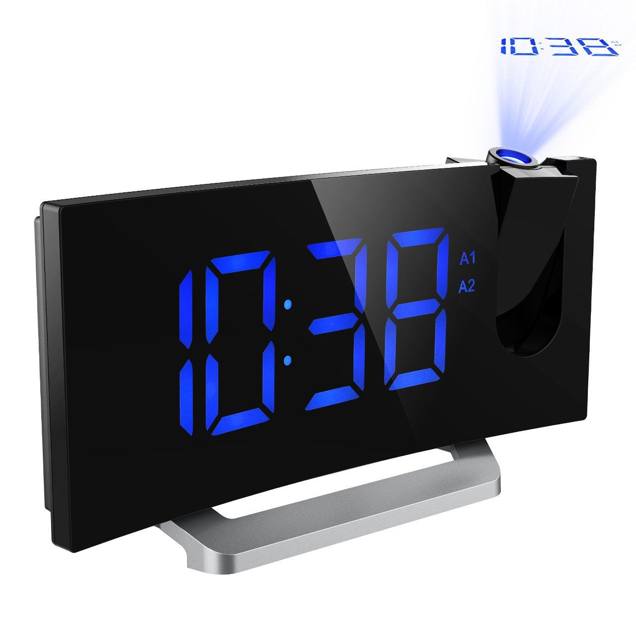 Mpow Radio Despertador Digital Despertador Proyector con Alarma de Proyección de FM