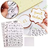 KJGF 4pcs Alphabet Cake Stamp Tool,Alphabet & Numbers Fondant Cake Mold, DIY Cookie Stamp Cookie Cutter Fondant Molds…
