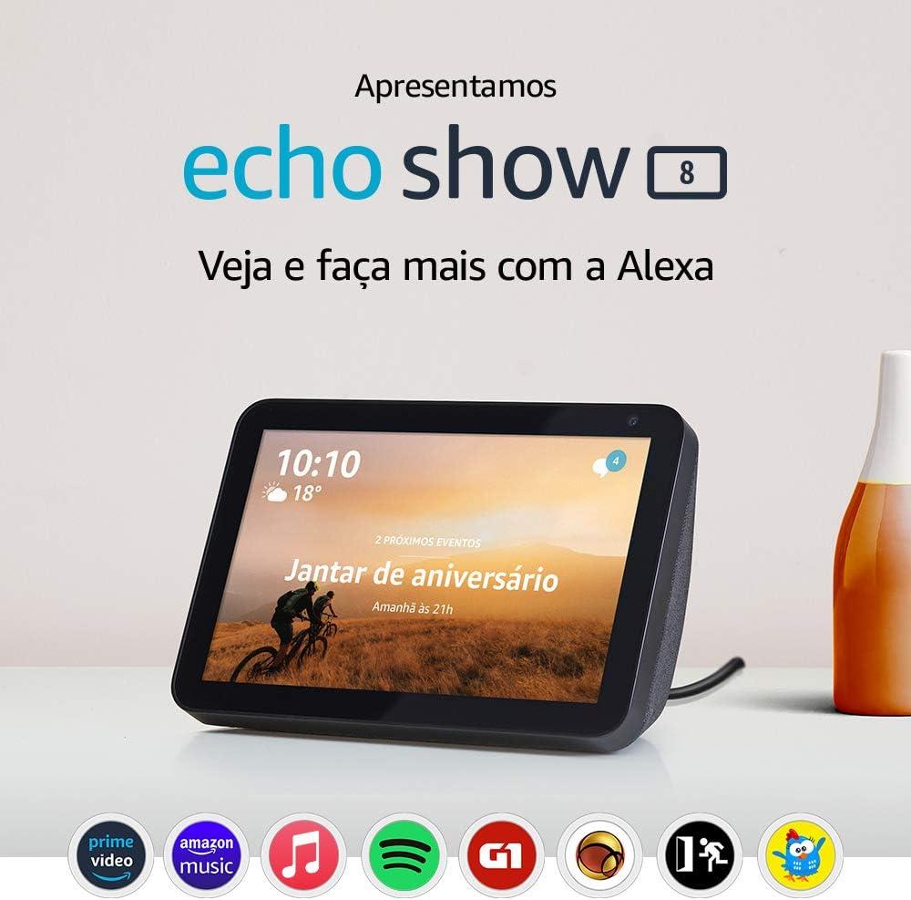 """Echo Show 8 - Smart Speaker com tela de 8"""" e Alexa"""