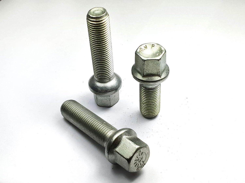 non compatibles avec les jantes dorigine. diam/ètre 24 mm Lot de 20 boulons de roue M14 x 1,5 Boule R12