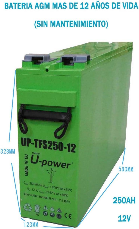 Batería Solar AGM UP-TFS250-12 250AH 12V FOTOVOLTAICA
