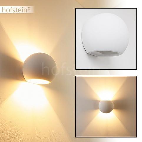Wandlampe Wohnzimmer Flot Mit Schönem Lichtkegel   Runde Leselampe Wand Aus  Gips Individuell Bemalbar   Wandstrahler