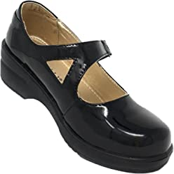 3e2ca368455 Rasolli Women s Professional Closed Back Mary Jane Clogs with Adjustable  Strap