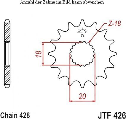 Ritzel 16 Zähne Für Gn 125 U Baujahr 1994 1996 Von Jtsprockets Auto