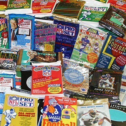 - 100 Vintage Football Cards in Old Sealed Wax Packs - Perfect for New Collectors