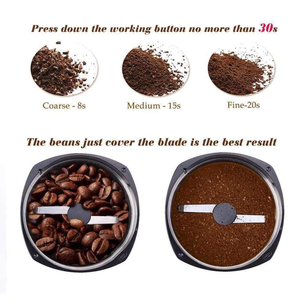 Electric Coffee Bean Grinder, SweetAlice 120V Powerful Stainless Steel Blade Coffee Bean and Spice Grinder, also Suitable for Herbs, Nuts, Grains, etc. [2-year warranty] by ChaojunUS Direct
