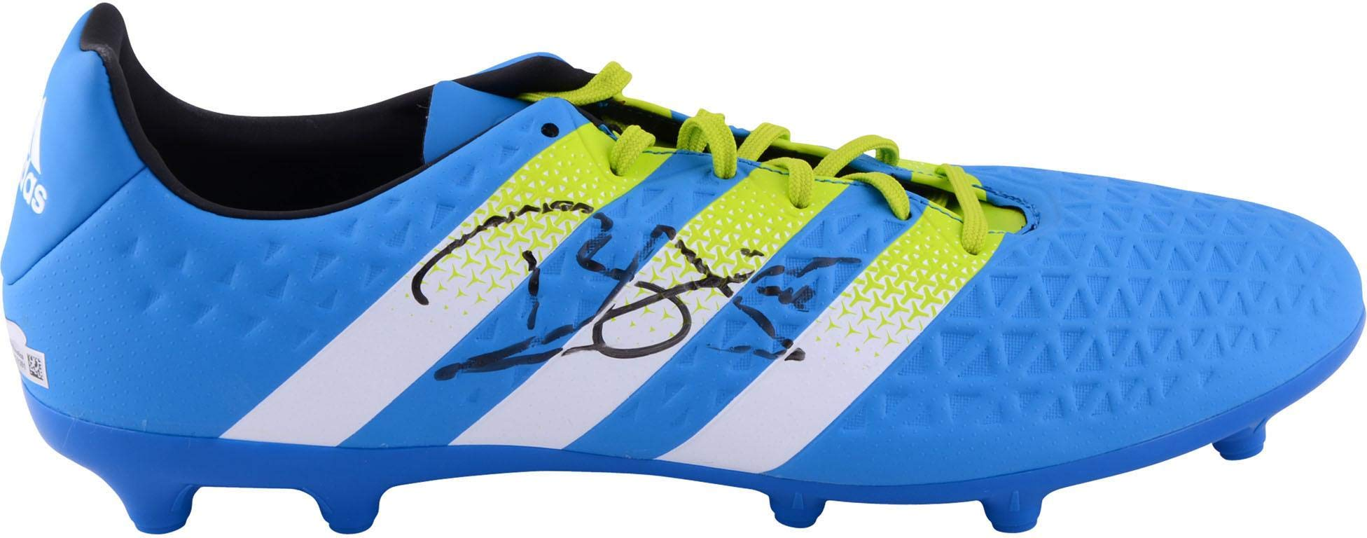 Dele Alli Tottenham Hotspur Autographed Blue and Green Adidas X 16.3 Soccer Cleat ICONS Fanatics Authentic Certified