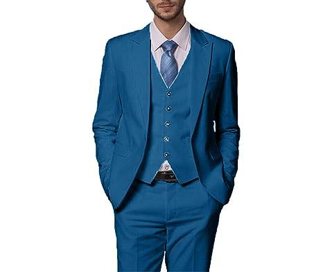 6e773555f21c YSMO Männer Slim Dreiteiliger Anzug Männer Blazer Jacke   Weste   Hosen  Hochzeit Prom  Amazon.de  Bekleidung