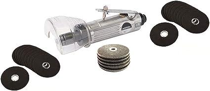Amoladora-motosierra neumática + 25 discos