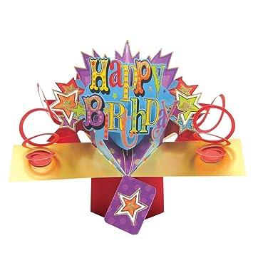Amazon.com: Feliz Cumpleaños Pop Up Tarjeta De Cumpleaños ...