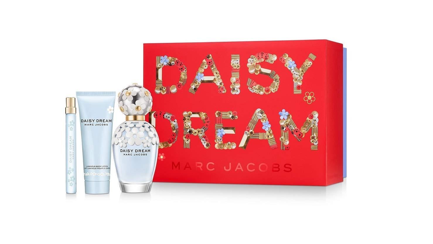 Marc Jacobs Daisy Dream 3 Pieces Set 3.4 oz Edt Spray & 2.5 oz Body Lotion & 0.33 oz Edt Spray Women