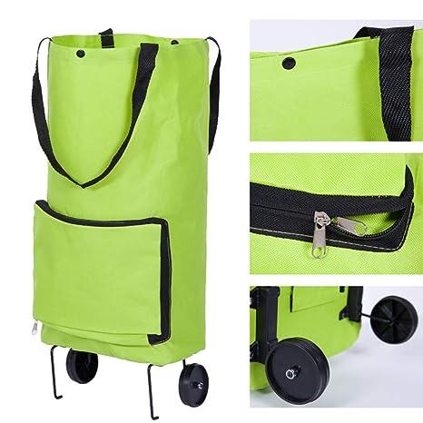 Oxford paño plegable bolso del tirón portátil carro de compras casa multifunción carro de compras carro