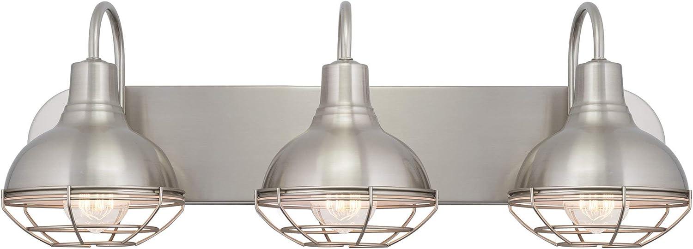 Quoizel TY8605BN Taylor Bath Vanity Wall Lighting, Lights 5-Light, 500 Watts, Brushed Nickel 8 H x 41 W